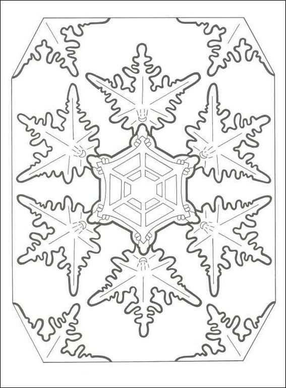 Snowflake String Art Coloring Page