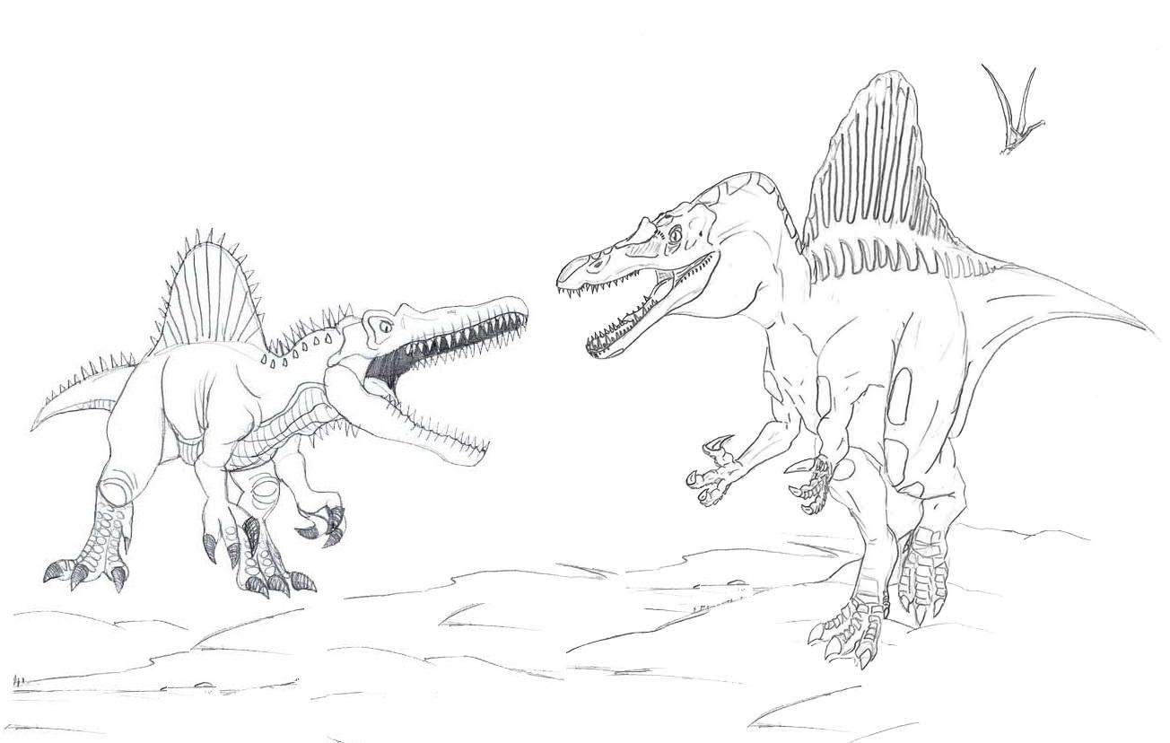 Spinosaurus coloring page printable