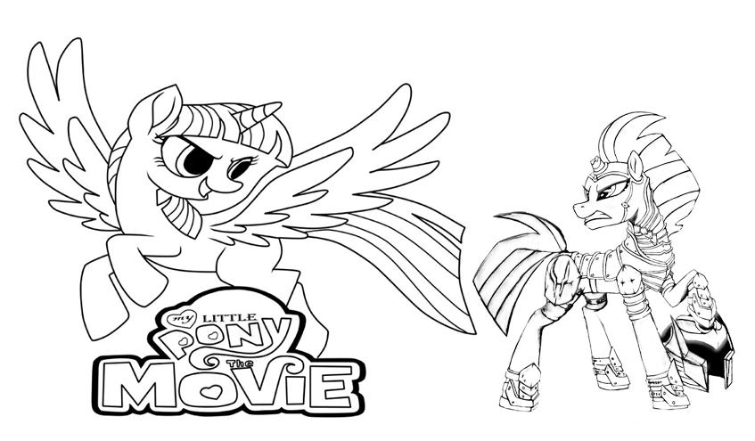 Tempest Shadow and Twilight Sparkle Coloring Page