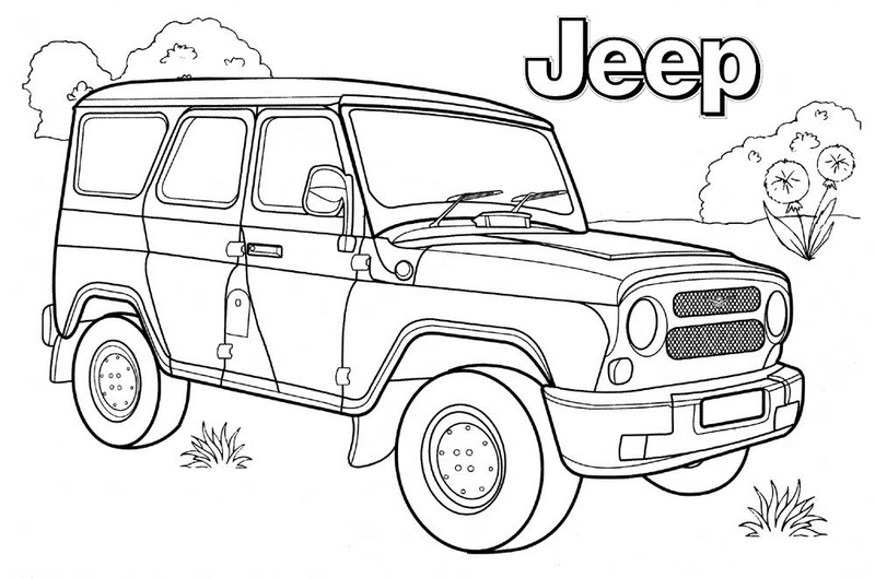 Top Jeep Coloring Pages for Boys