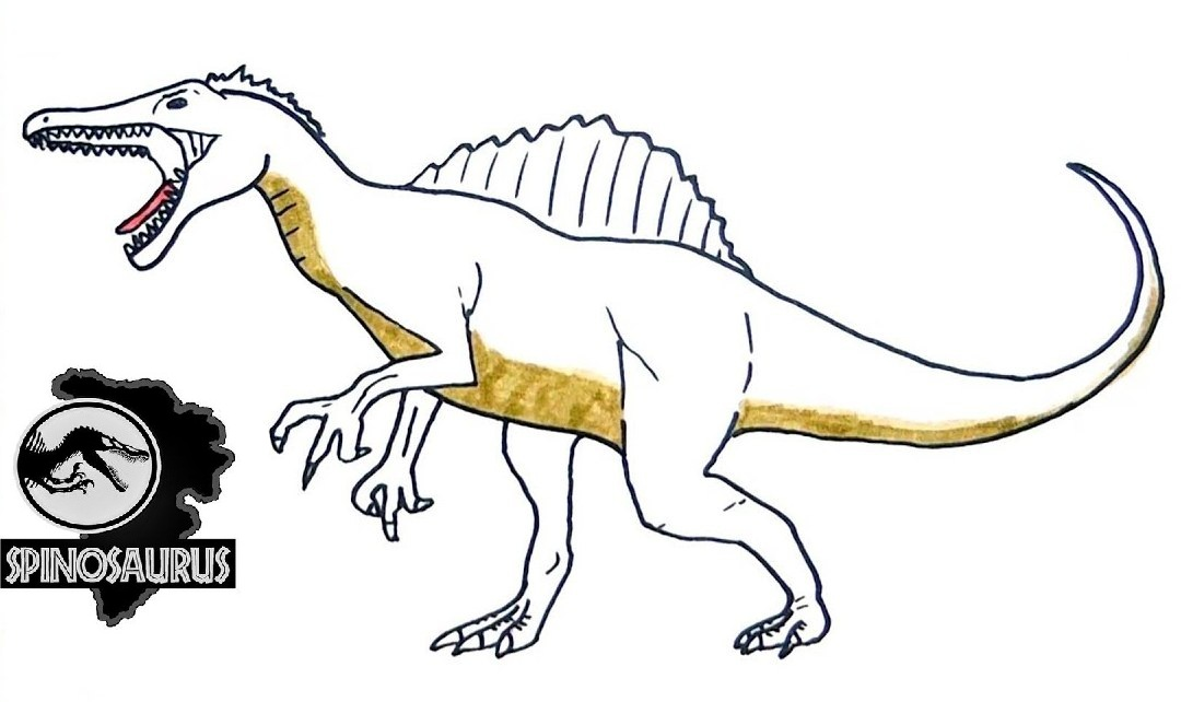 Top Spinosaurus Coloring Page