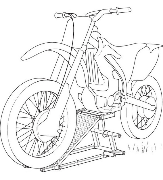 Yamaha Dirt Bike Coloring Page