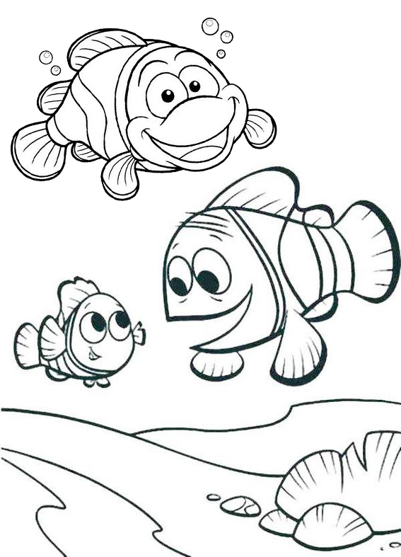 best clownfish undersea coloring pages
