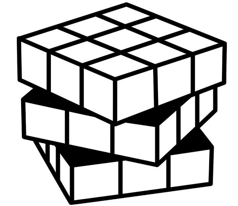 best rubiks cube coloring page