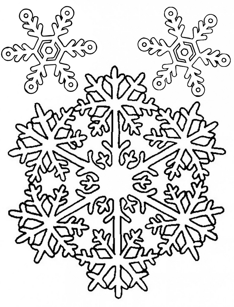 best snowflakes coloring pages to print