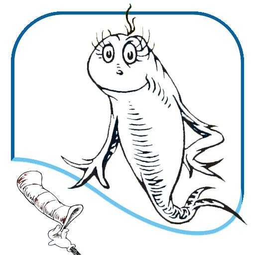 cute one fish two fish coloring page
