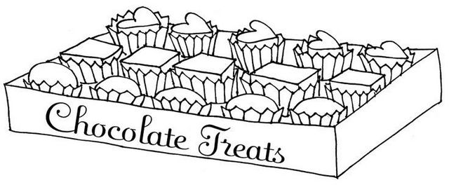 delicious chocolate bar treats coloring page