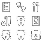 dental icon clipart and drawing page