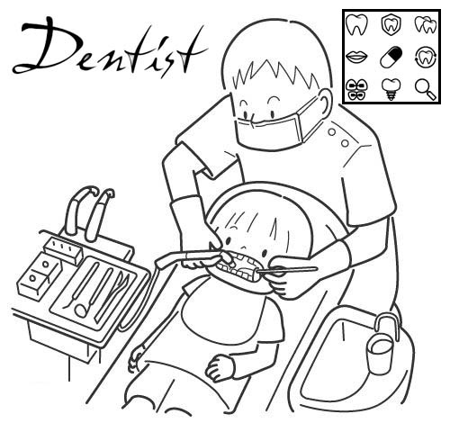 dental and oral care coloring page