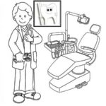 dentist dental profession coloring pages