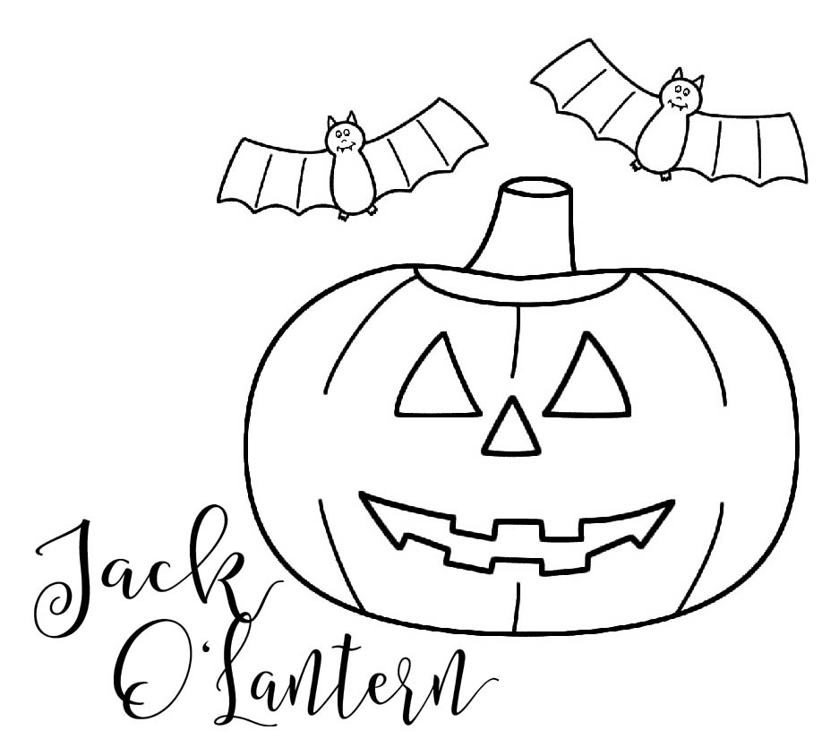 fantastic halloween ghost jack o lantern coloring page
