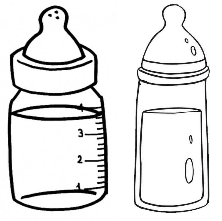 fun baby bottles coloring page