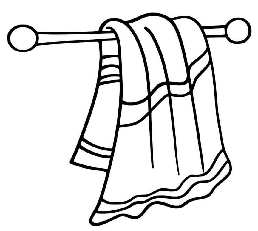 hand face towel coloring page