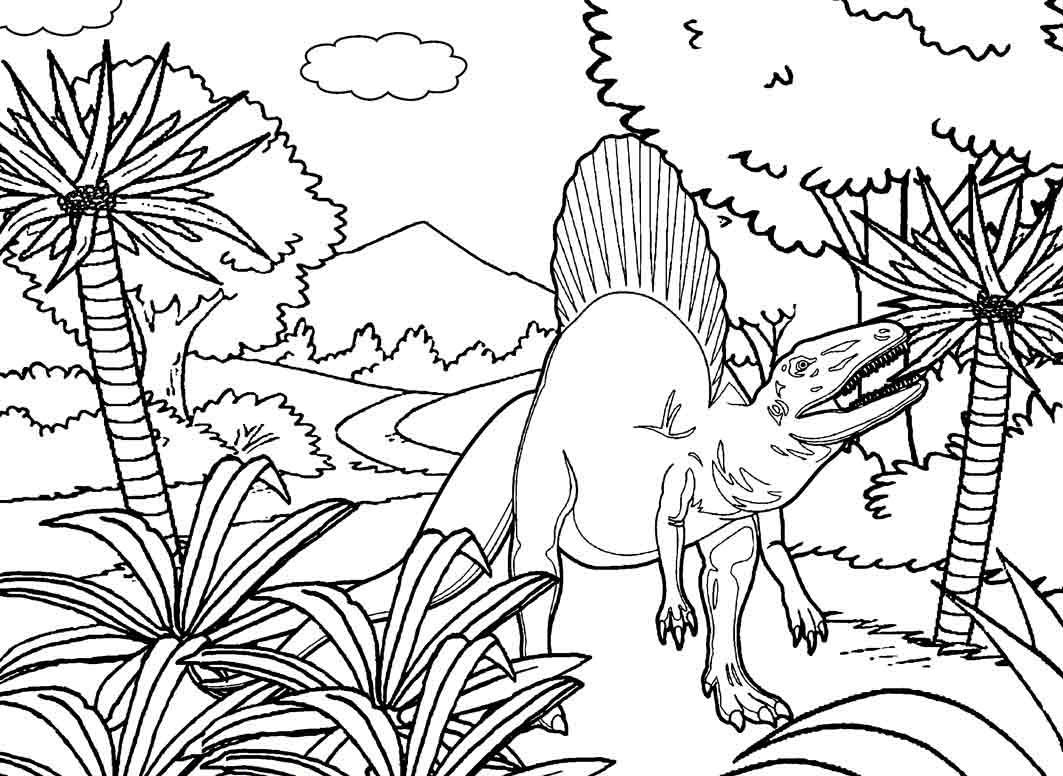 high detailed of printable coloring pages of spinosaurus