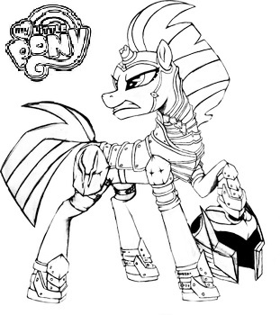 mlpfim tempest shadow coloring page