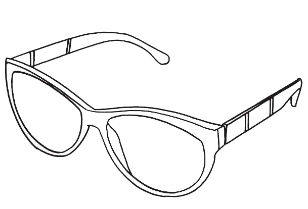 photograph relating to Printable Sunglasses identified as Attractive Sungles Coloring Web pages for Young children and Grownups