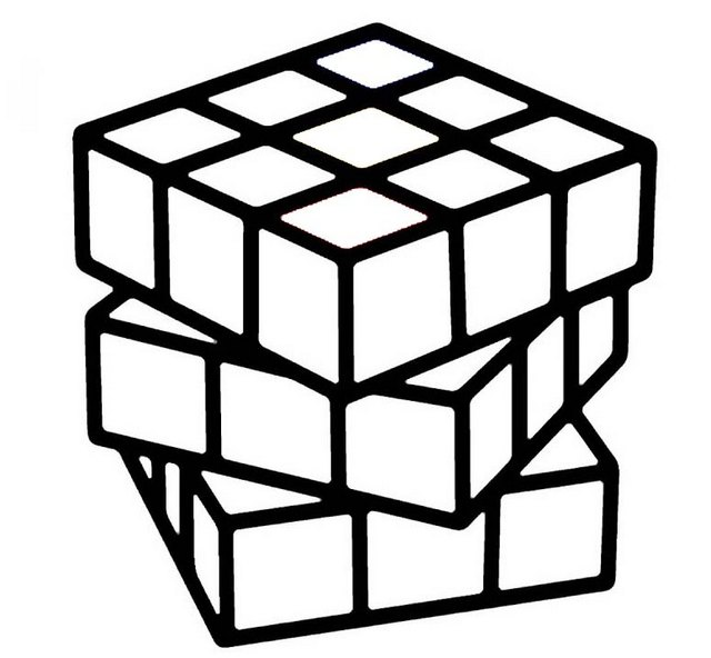 rubiks cube solution coloring page