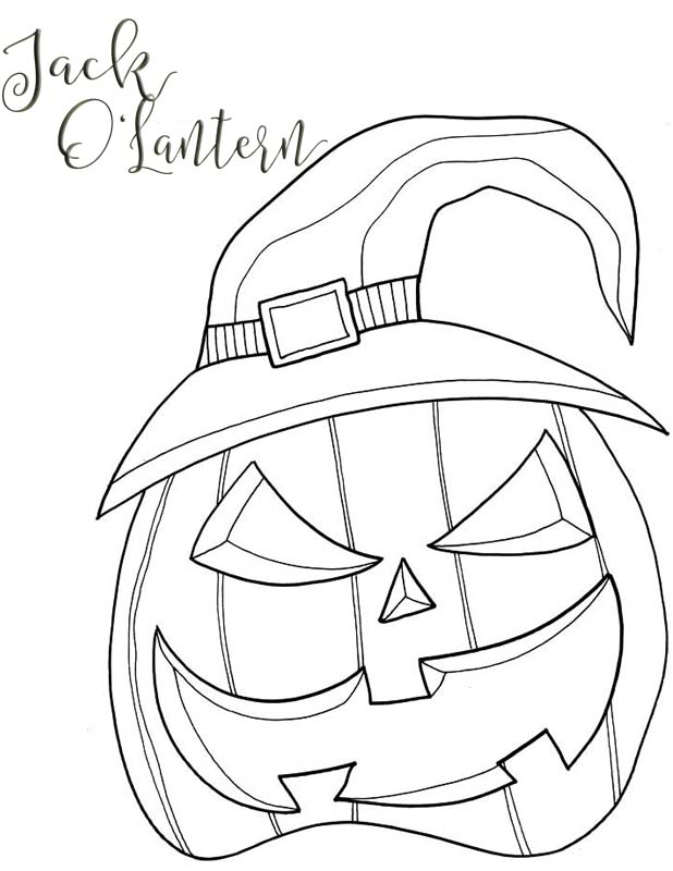 scary jack o lantern coloring pages