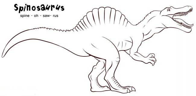 spinosaurus coloring pages for children