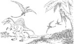 Huge Reptiles of The Past, Spinosaurus Coloring Pages