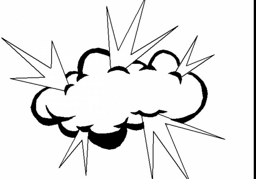 storm cloud and lightning coloring pages
