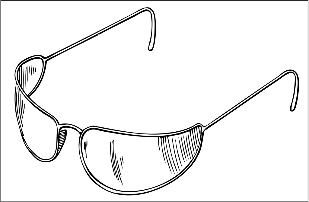 Trendy Sunglasses Coloring Pages For Kids And Adults