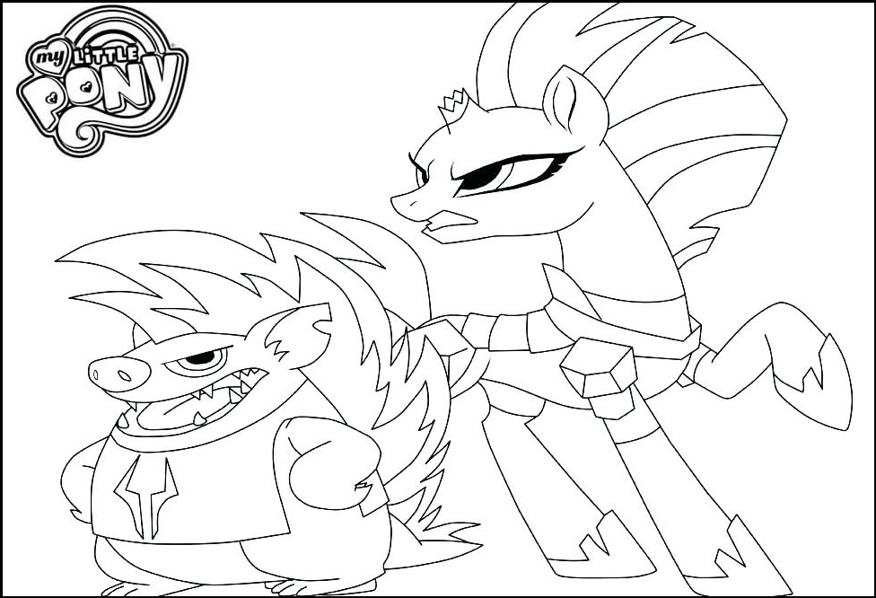 tempest shadow and grubber coloring picture