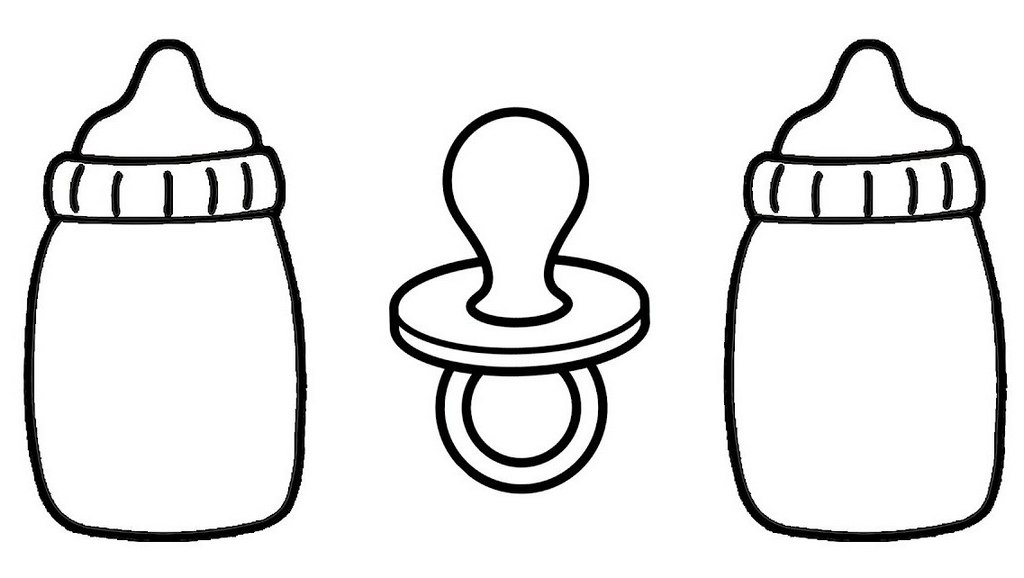 top baby bottles coloring page