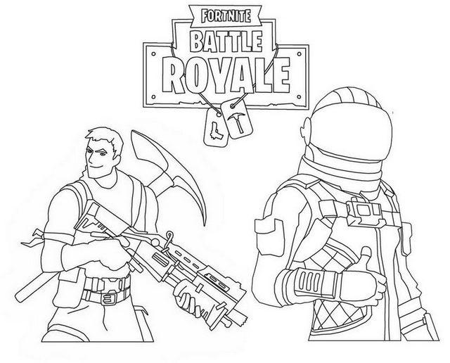 Best Fortnite Battle Royale Coloring Page