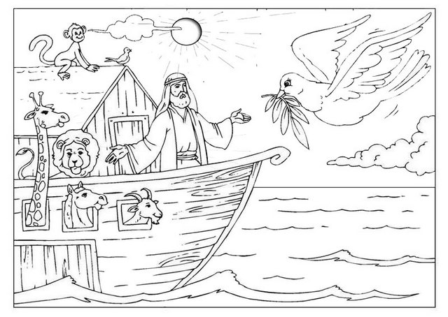 Best Noahs Ark Story Coloring Page