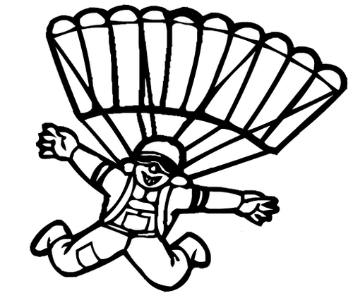 Best Parachute Coloring Pages