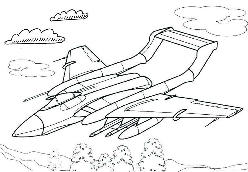 Best fighter jet coloring page printable