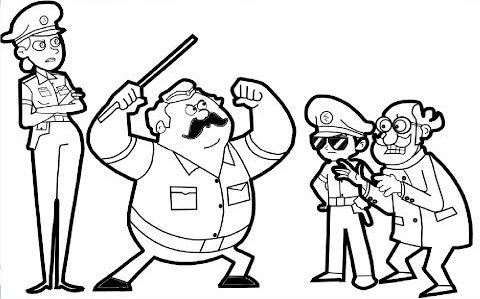 Best little singham coloring page for kids