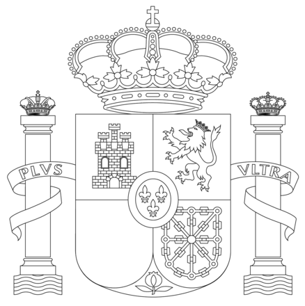 Coat of Arms of Spain Coloring Pages