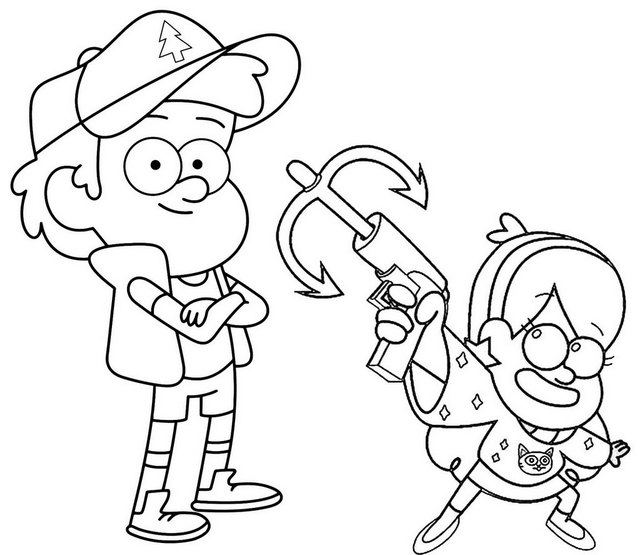 mabel and dipper coloring pages - photo#13