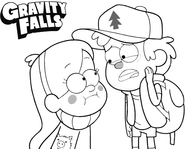 Disney Gravity Falls Coloring Page