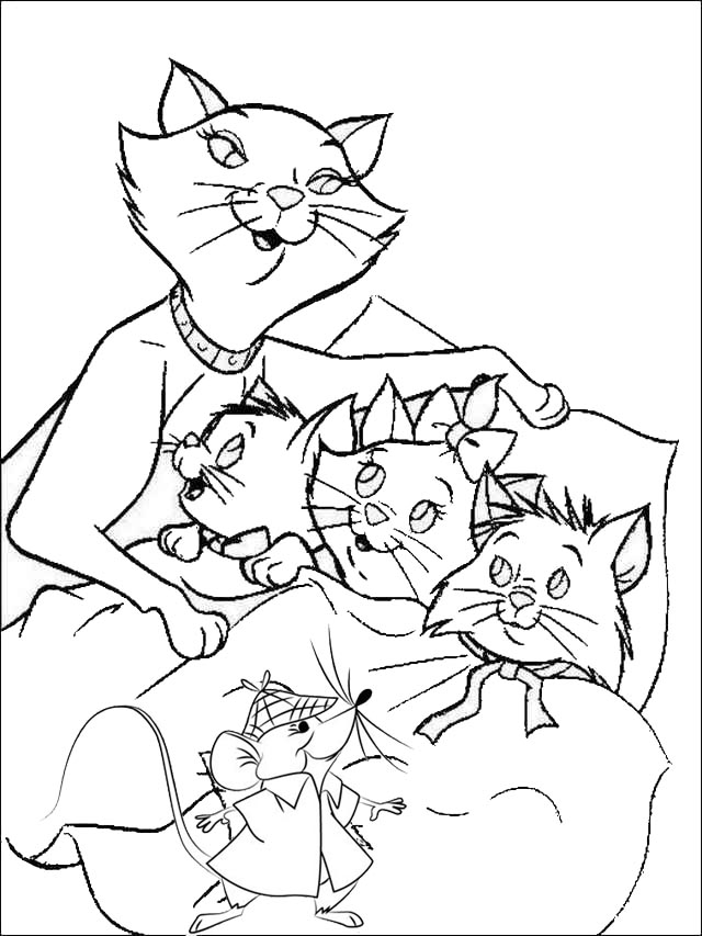 aristocats toulouse coloring pages - photo#19