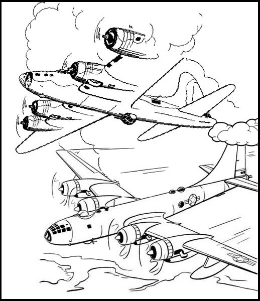 Fighter Jets in Combat Coloring Page