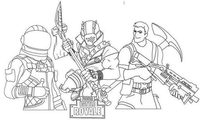 Fortnite Battle 3 Season Pass Skins Coloring Page