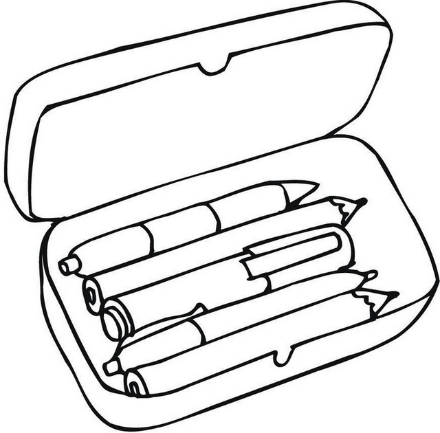 Fountain Pen Box Coloring Page