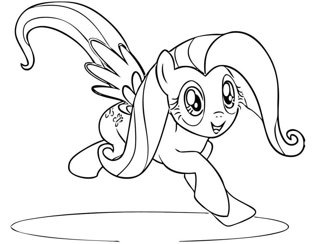 Fun Filly Fluttershy Coloring Pages