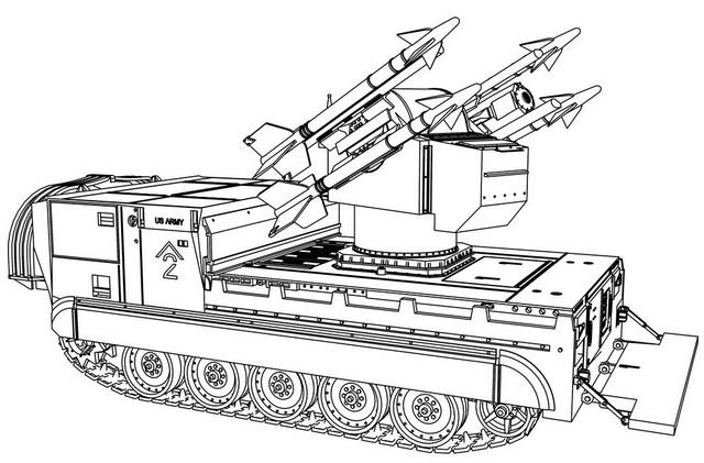 Future Tank Design Coloring Page
