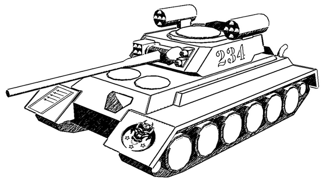 German super heavy tank coloring pages