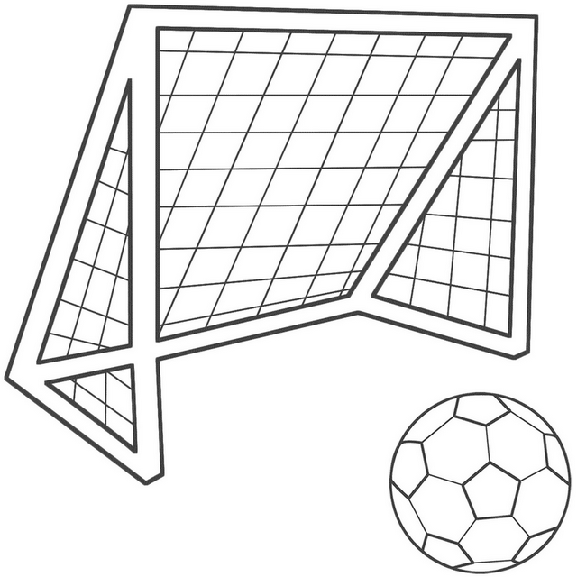 Goal Football Kit Colouring Page