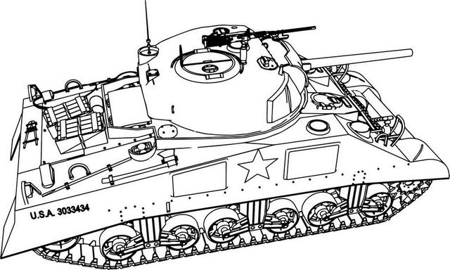Heavy Tank Coloring Page for Kids