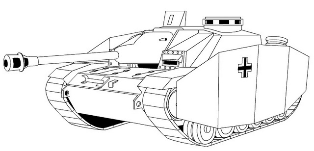 Hungarian Tanks WW2 Coloring Page