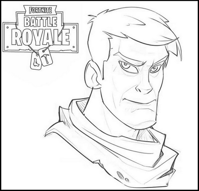 Josh Bruce Fortnite Coloring Pages
