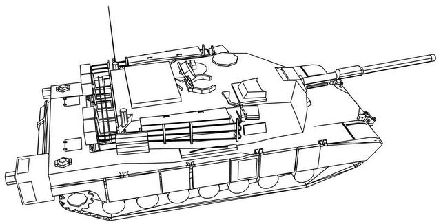 M1A2 Abrams Tank Coloring Page