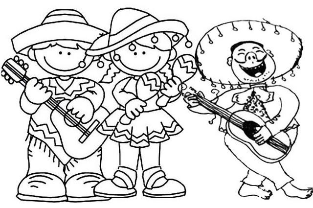 Mariachi Cinco De Mayo Coloring Page