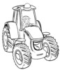 Tractor Coloring Pages to Teach about Farm Literacy